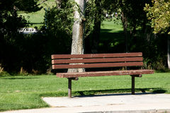 Bench in a Park. Bench in Sugarhouse Park Royalty Free Stock Photo