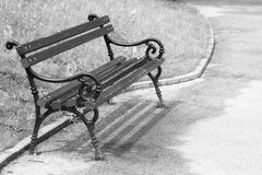 Bench in the park , artistick toned Royalty Free Stock Images