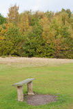 Bench in a park in autumn Royalty Free Stock Image