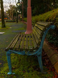 Bench in the Park. In autumn 2016 Stock Photos