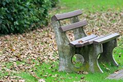 A bench in the park Royalty Free Stock Photography