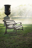 Bench in the park on a background of lake Royalty Free Stock Images