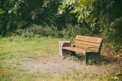 Bench in park Stock Photo