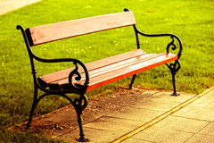 Bench in the park Royalty Free Stock Photos
