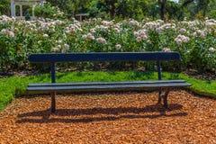 Bench park in El Rosedal de Palermo stock photo