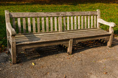 Bench park empty wood Stock Images