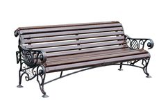 Bench for park. Forged decorative  Bench for park. Isolated over white background Royalty Free Stock Images