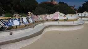 Bench in Park Güell Royalty Free Stock Photos