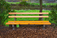 Bench in a park in Germany Royalty Free Stock Photo