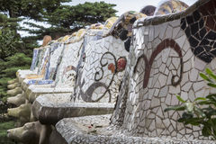 Bench in Park Guell in Barcelona, Spain Royalty Free Stock Photography