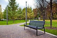 Bench in park Stock Photos