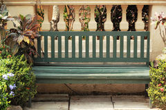 Bench in the park with nature Stock Photography