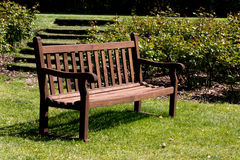 Bench in a park Royalty Free Stock Photo