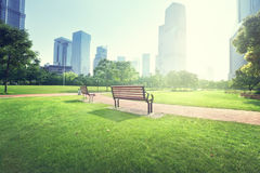 Bench in park, Shanghai Royalty Free Stock Images