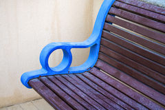 Bench in the park,. Stylish bench in summer park Royalty Free Stock Photos