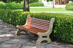 Bench at a park. Stock Photo