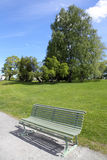 Bench in the park (summer) Royalty Free Stock Photos