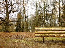 Bench in the Park. Wooden Bench in the Autumn Park Royalty Free Stock Images