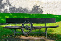 A bench in the park Stock Photography