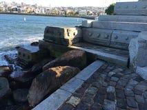 Bench per l'organo di Wave con una vista della baia, 1 Fotografia Stock