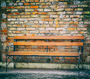 Bench, photo in old image style. Royalty Free Stock Photography