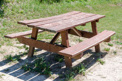 Bench and picnic table Royalty Free Stock Image