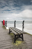 Bench on the Pier Stock Photography