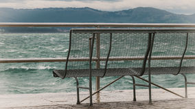A bench on the pier Royalty Free Stock Photography