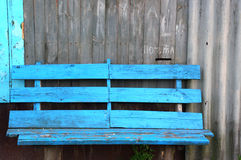 Bench and post box Royalty Free Stock Images