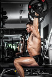 Bench press royalty free stock photo