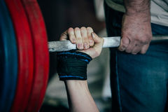 Bench press competitions royalty free stock photography
