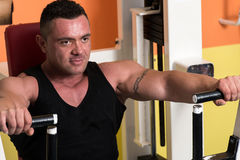 Bench Press Exercise Machine Stock Photography