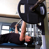 Bench press weightlifting man at gym Royalty Free Stock Image