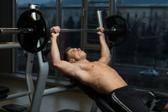 Bench Press Workout Royalty Free Stock Photography