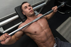 Bench Press Workout royalty free stock photos