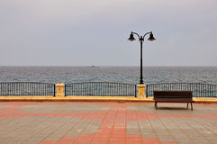 Bench on the promenade Stock Photos