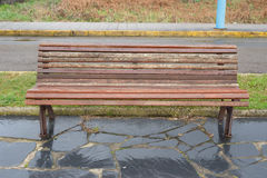 Bench in a promenade Royalty Free Stock Photos