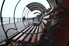 Bench on the promenade Stock Photos