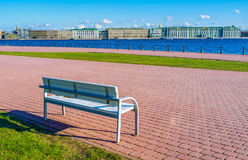 The bench on the promenade Stock Photography