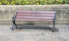 Bench at a public park Royalty Free Stock Images
