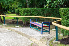 Bench in Queen Sirikit Park. Bench in the Queen Sirikit Park, Bangkok Royalty Free Stock Images