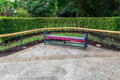 Bench in Queen Sirikit Park. Bench in the Queen Sirikit Park, Bangkok Stock Photos