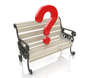 Bench question Stock Photography