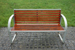 Bench in the rain Stock Photography