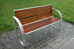 Bench in the rain Royalty Free Stock Image