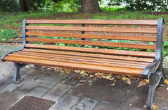 Bench after rain. Royalty Free Stock Photography
