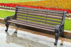 Bench in the rain Royalty Free Stock Images