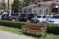 Bench reconciliation in the city center Royalty Free Stock Photography