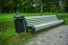 Bench for rest in the park Royalty Free Stock Photo
