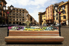 Bench in Rome Stock Image